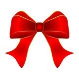 Czerwony łęk z złocistym podstrzyżeniem Obrazy Royalty Free