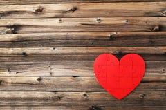 Czerwony łamigłówki serce Fotografia Stock
