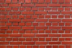 Czerwony ściana z cegieł. Fotografia Stock