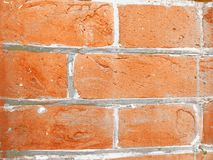 Czerwony ściana z cegieł z betonem zdjęcie stock
