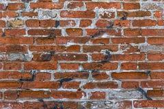 Czerwony ściana z cegieł brudny Murales Zdjęcia Stock