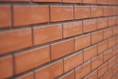 Czerwony ściana z cegieł ceglany tekstury wnętrze Fotografia Stock