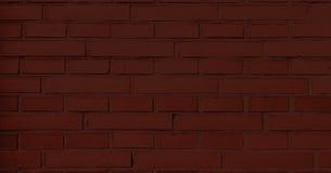 Czerwony ściana z cegieł, ciemny tło dla projekta Część czerwień malujący ściana z cegieł pusty Obraz Stock