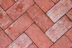 Czerwony ściana z cegieł, ideał dla tła zdjęcia royalty free
