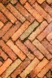 Czerwony ściana z cegieł, ideał dla tła zdjęcie royalty free
