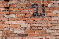 Czerwony ściana z cegieł z liczbą 21 Zdjęcie Stock