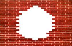 Czerwony ściana z cegieł Przestrzeń dla teksta Obrazy Stock