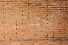 Czerwony ściana z cegieł tekstury grunge tło Obrazy Royalty Free