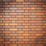 Czerwony ściana z cegieł z winietą, (grunge stylowy tło) Fotografia Royalty Free