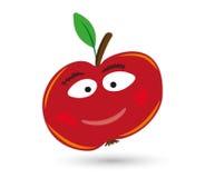Apple z oczami i usta Zdjęcie Stock