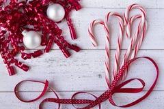 czerwony świątecznej white obraz royalty free