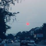 Czerwony światło słoneczne fotografia stock