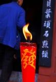 czerwony świece. Obrazy Stock