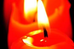 Czerwony świeczki światło Fotografia Royalty Free