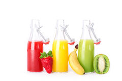Czerwony żółtej zieleni Owocowy sok Zdjęcie Stock