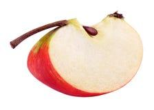 Czerwony żółty jabłczany plasterek obrazy royalty free