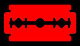 Czerwony żyletki ostrze ilustracja wektor