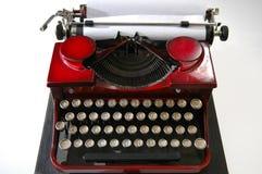 czerwony 1 maszyny do pisania Fotografia Royalty Free