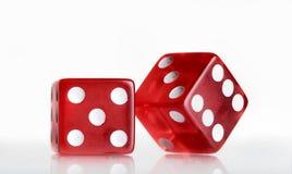 czerwony 2 dices Zdjęcie Royalty Free