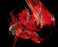 czerwony abstrakcjonistyczni kształty Obraz Royalty Free