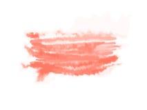 Czerwony abstrakcjonistyczny akwarela punkt Odizolowywająca na biel wektorowa ilustracja ilustracja wektor