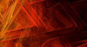 Czerwony abstrakcjonistyczny fractal tło Obraz Stock