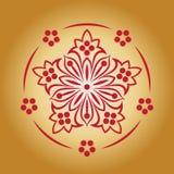 Czerwony abstrakcjonistyczny kwiat Zdjęcie Royalty Free