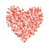 Czerwony abstrakcjonistyczny serce odizolowywający na białym tle Wektorowy projekt e ilustracji