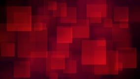 Czerwony abstrakcjonistyczny tło rozmyci kwadraty ilustracja wektor