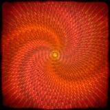 Czerwony abstrakcjonistyczny twirl grunge tło Zdjęcia Stock