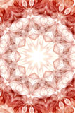 czerwony abstrakcyjna dymu fale Zdjęcia Royalty Free