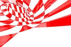 czerwony abstrakcyjne white Obraz Royalty Free