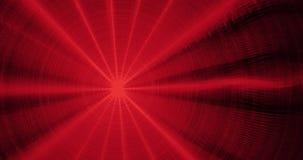 Czerwony abstrakt Wykłada krzyw cząsteczek tło Obraz Royalty Free