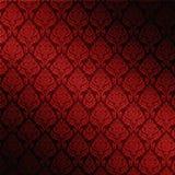 czerwony adamaszkowy bezszwowy Obrazy Royalty Free