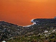 czerwony Adriatic morze Zdjęcie Stock