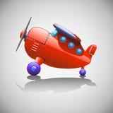 Czerwony Airbus royalty ilustracja