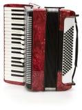 czerwony akordeon Obrazy Royalty Free