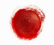 Czerwony akrylowy okrąg zdjęcia stock