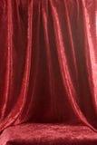 czerwony aksamit na scenie Obraz Royalty Free
