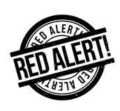 Czerwony Alarm pieczątka Zdjęcia Stock