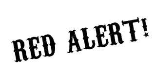 Czerwony Alarm pieczątka Fotografia Royalty Free
