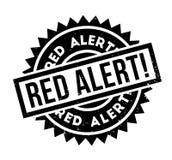 Czerwony Alarm pieczątka Obrazy Royalty Free