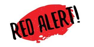 Czerwony Alarm pieczątka Zdjęcia Royalty Free