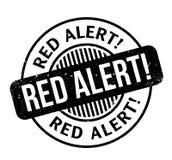 Czerwony Alarm pieczątka Fotografia Stock