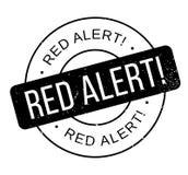 Czerwony Alarm pieczątka Obraz Stock