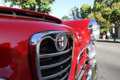 CZERWONY Alfa Romeo Fotografia Royalty Free
