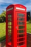 Czerwony anglików telefonu pudełko fotografia stock