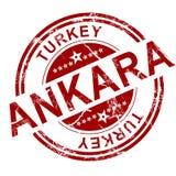 Czerwony Ankara znaczek ilustracja wektor