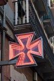 Czerwony apteka znak Zdjęcie Royalty Free