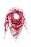 Czerwony arabski szalik odizolowywający na białym tle Obrazy Stock